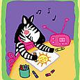 Zebra Loves to Draw