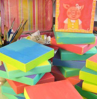 Piggie canvases 1