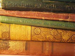 Vintage books Over 100 years old Sacrificed for Art