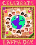Celebrate Earth Day art by Farah Aria free download and print drawing for Earth Day!